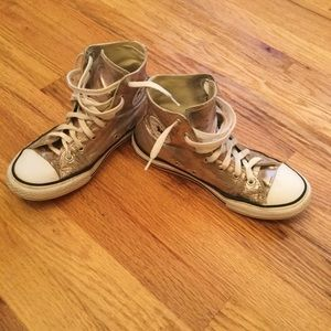 Gold Converse High Top Chuck Taylor All Star 3